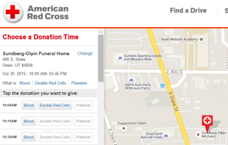 20151030 halloween blood drive at funeral home