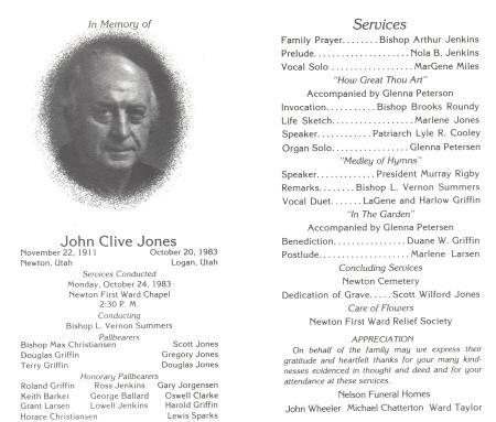 Funeral Service Program Inside